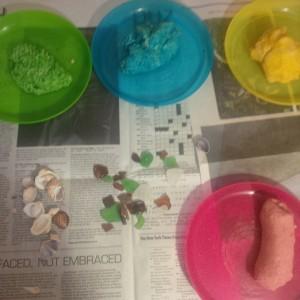 salt dough set up