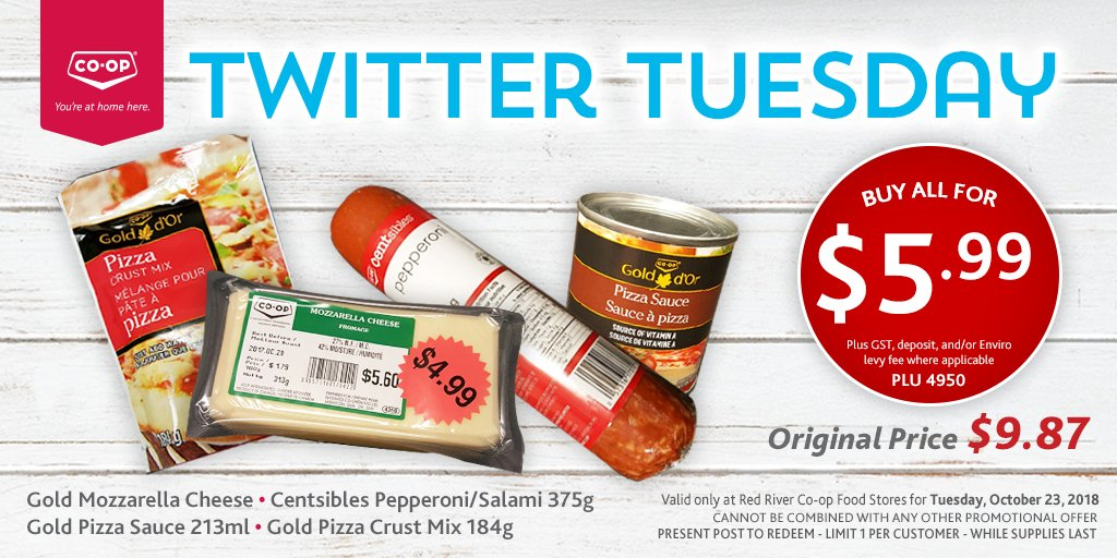 Red River Coop Tuesday Twitter Deal Save Money In Winnipeg
