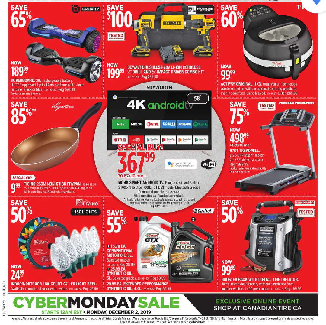 Canadian Tire Red Thursday And Black Friday Flyer Save Money In Winnipeg