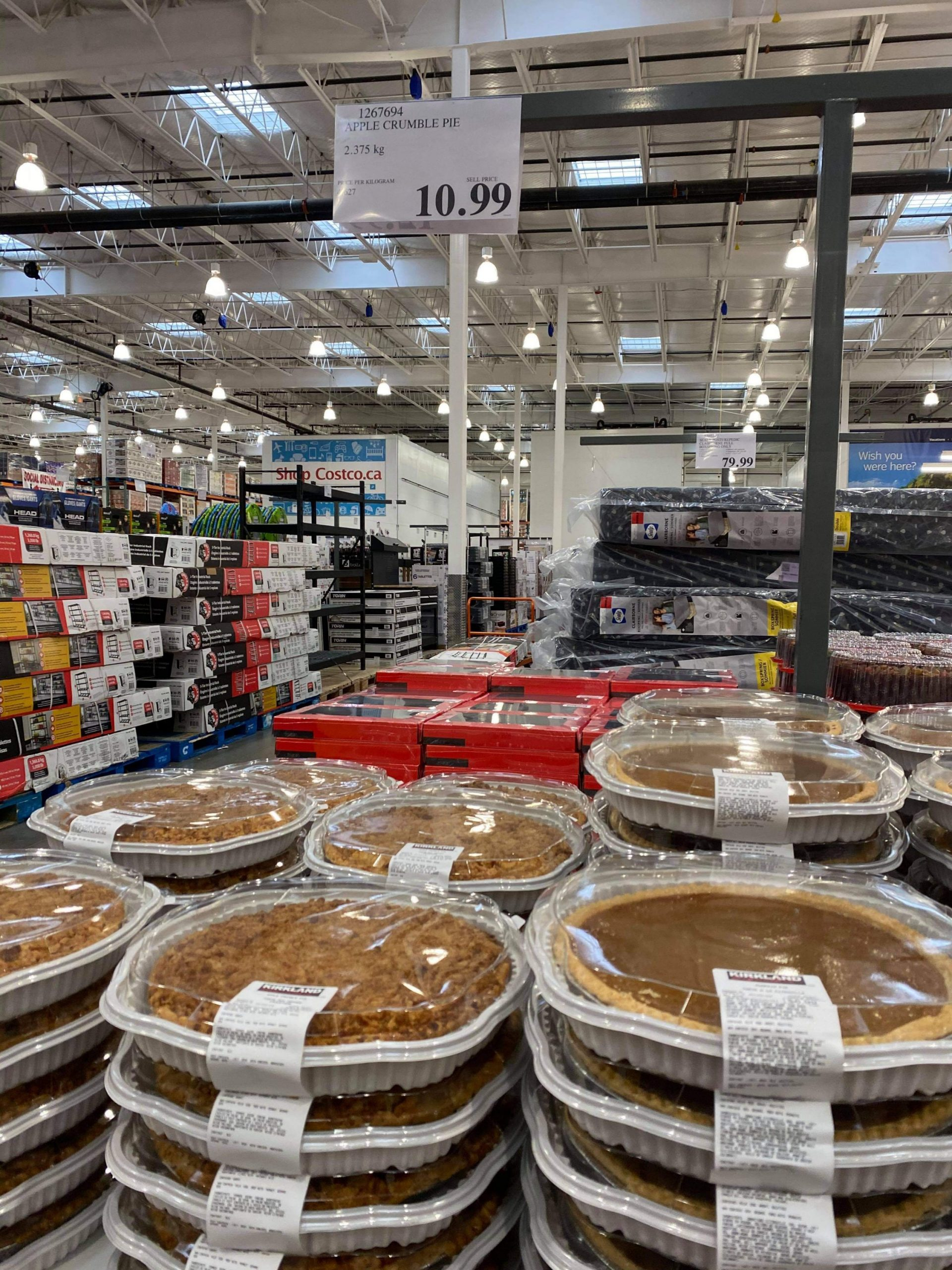 Pumpkin pie is back at Costco Apple pie too   Save Money in ...